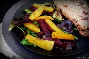 Salade de betteraves rôties au four