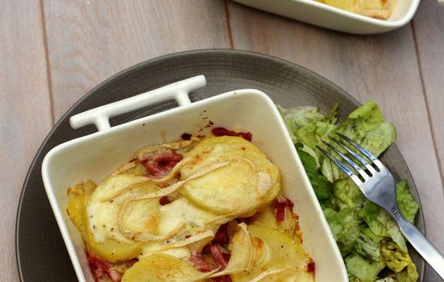 Tartiflette (légère) au bacon et merzer