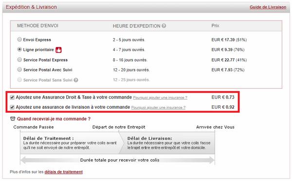 captures d'écran du site de vente en ligne Light In The Box (version française) - crédit images : Light In The Box