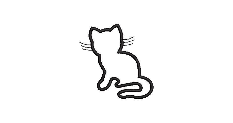 BRODERIE APPLIQUE CHAT