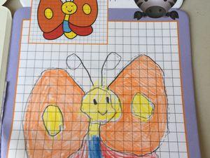 livre de coloriage pour apprendre à dessiner avec des grilles , avec des repères, sur charlotteblablablog