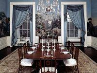 Vues des pièces du 3éme niveau de la Maison-Blanche (appartement privée) sous l'ère Kennedy (Library J. F. Kennedy)