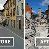 15+ Before and After Italian Earthquake: Heartbreaking Photos Show Destroyed Towns In Italy