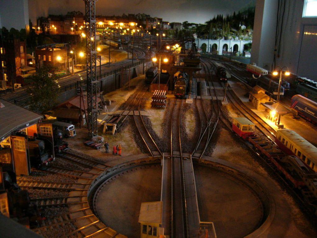 vue nocturne des accès au pont tournant modifiés