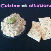 Ma petite crème de thon aux olives et capres... idéale pour l'apéro ! - Le blog de cuisineetcitations-leblog
