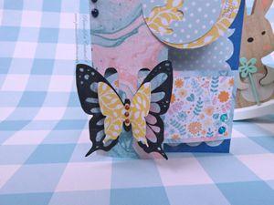 Carte - Pâques - 2020 - Loquet - Papillon - Oeufs - Strass - Stickers - Fleurs - Printemps - Scan N Cut - CM600 - Canvas Workspace