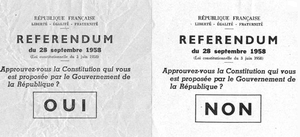 Referendum or not referendum ?