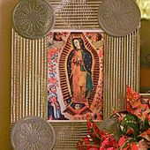Punched Tin Frame Using Recycled Tin Cans