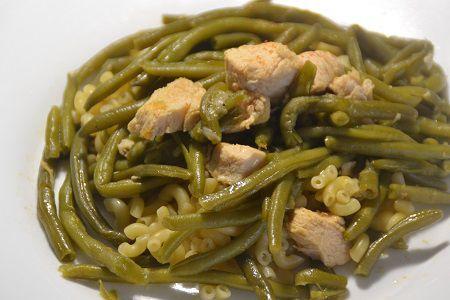 Escalopes poulet haricots verts au cookeo