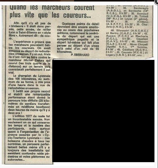 Mes Lyon - Saint Etienne années 1977 - 1978 - 1979 Aujourd'hui appelée La SaintéLyon