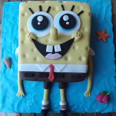 Tutoriel gâteau Bob l'éponge
