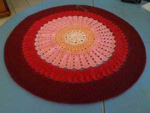Tapis rond pour table basse table.