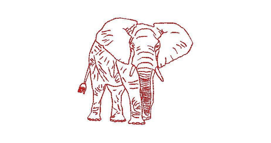 BRODERIE ELEPHANT