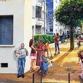 Fresques murales rue Paul Cazeneuve - Passions de Michel