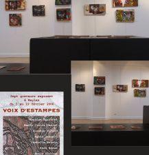 """""""Rêve d'été"""", 2012. Galerie Place à l'Art, Voiron /Tente nomade, 2012/ """"Toile d'araignée"""" jARTdins, 2011 / """"Relations  d'incertitude"""", 2011. Ancien Musée de peinture, Grenoble / Projection video, 2010. Espace de La Tour, La Buisse (Isère) / """"Rencontres fortuites"""" 6ème FONT'ART, 2009. Moulin des Acacias, Fontanil / """"Les Chemins du Dialogue"""", 2008. Town Hall, Oxford / """"Taille Mannequins"""", 2007. Maison Rey, Fontanil /  """"Voix d'Estampes"""", 2006. Centre des Arts de Meylan / """"Font'Art, 2005"""". Moulin des Acacias, Fontanil"""