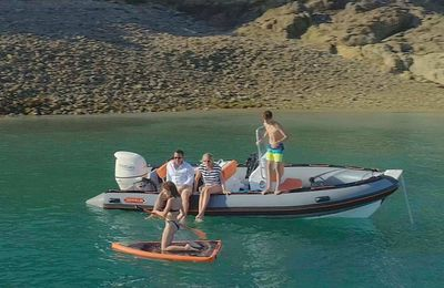 Zeppelin Vitamine a fully equipped rigid inflatable boat dedicated to family pleasure