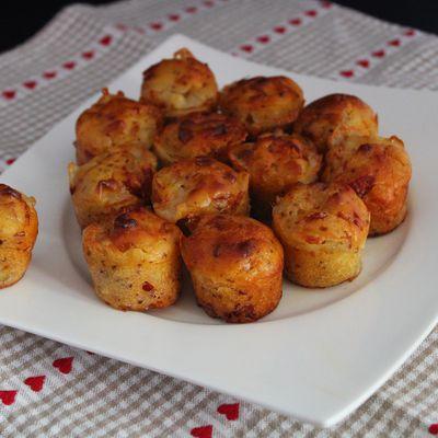 Mini muffins fromage des Pyrénées et chorizo