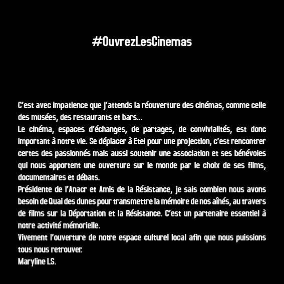 #OuvrezLesCinemas