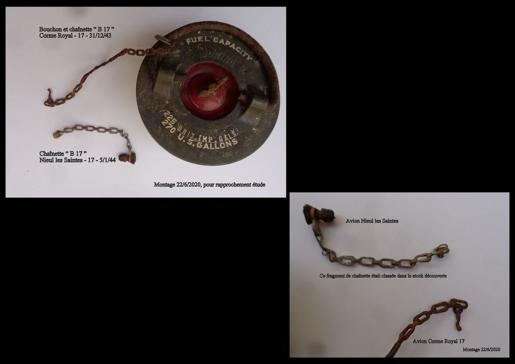 ET en prime... très humain, assemblage relatif de trois fragments du peigne du pilote US Charles Donald Cole.