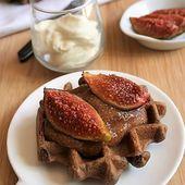 Gaufres au cacao aux figues { sans gluten, sans lait, sans oeufs} - Allergique Gourmand