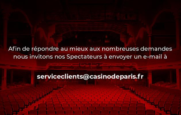 ℹ Réouverture du Casino de Paris ...