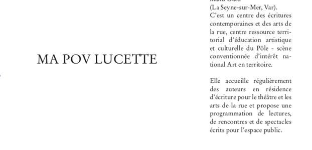Ma Pov Lucette / Caroline Leurquin