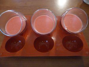 Panna cotta fraise Tagada et vanille