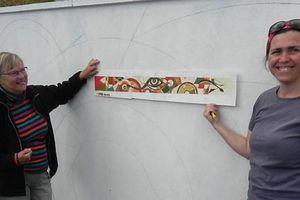Une fresque murale pleine de symboles