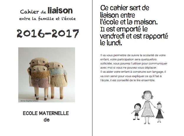 Le m de maman cahier de liaison N°1et 2(2016-2017)