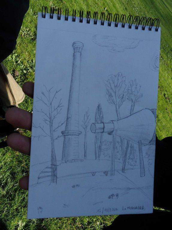 """Les """"croqueurs"""" exterieurs au Parc de la Morinière"""