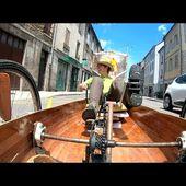 Félix sillonne la France avec son vélo canoé