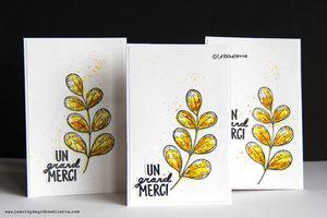 Cartes_Feuillages aquarellés