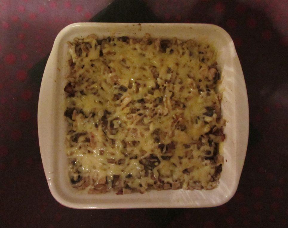 Gratin de crozets aux champignons et au tofu