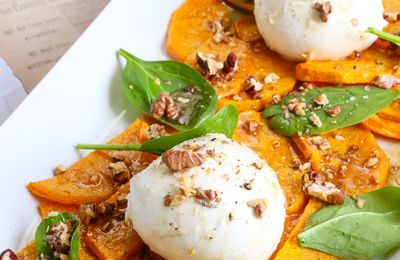 Butternut rôti, burrata & vinaigrette à l'orange