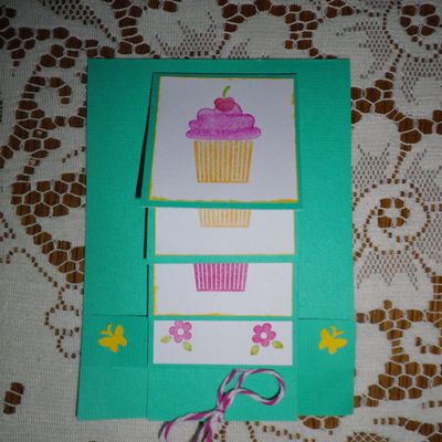 Carte anniversaire cup cake stampin'up