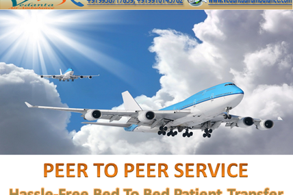 Supportive ICU and CCU Service by Vedanta Air Ambulance Service from Delhi to another City