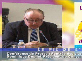 Fil de l'Actu - Conférence de rentrée du Conseil Général du Pas de Calais