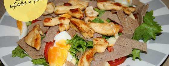 Salade poulet tagliatelle de galette