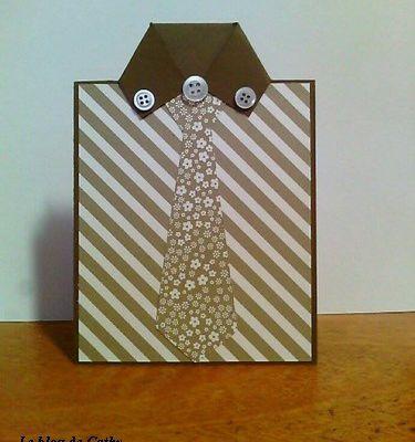 Une carte cravate pour la Fête des Pères