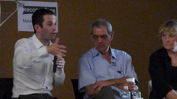 """Au cours du mois de juin 2008, un forum """"Reconquêtes"""" a eu lieu à Bordeaux. Benoît Hamon, Henri Emmanuelli & Razzye Hammadi étaient présents."""