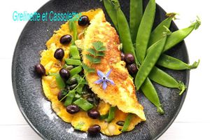 Omelette aux Pois Gourmands
