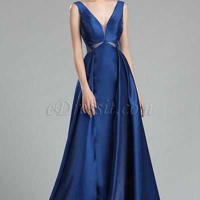 Fancy Blue Occasion Evening Dresses