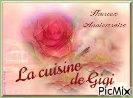 Bon anniversaire à La cuisine de Gigi