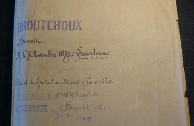Une lettre de Broutchoux à Viviani en août 1914