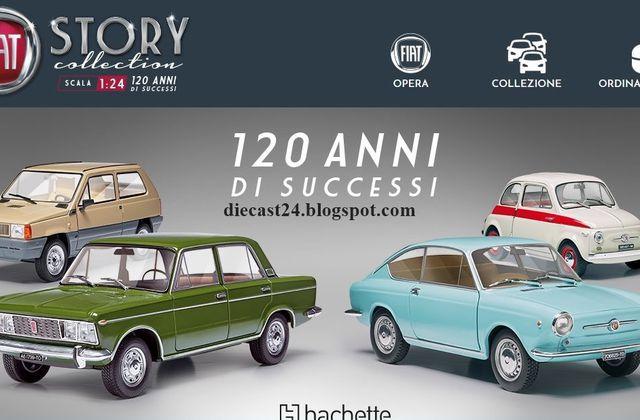 Hachette : une collection Fiat à l'échelle 1/24 pour célébrer les 120 ans