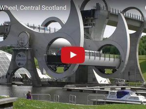 VIDEO - The Falkirk Wheel, a unique rotating boat lift located in Scotland