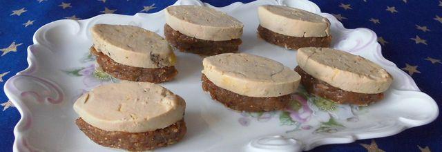 Toasts de foie gras façon calisson