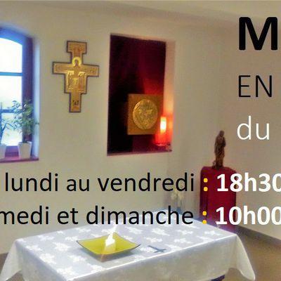 Messe en direct  du prieuré de Pibrac pendant le confinement