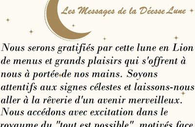 MESSAGES CELESTES 25 FEVRIER 2021