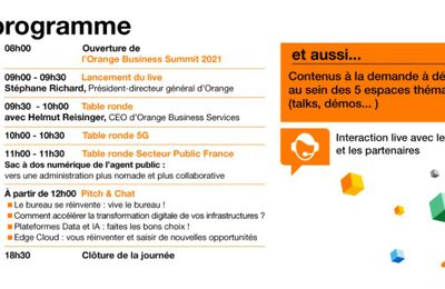 Marketing Event : 16 mars 2021, se tiendra l'Orange Business Summit